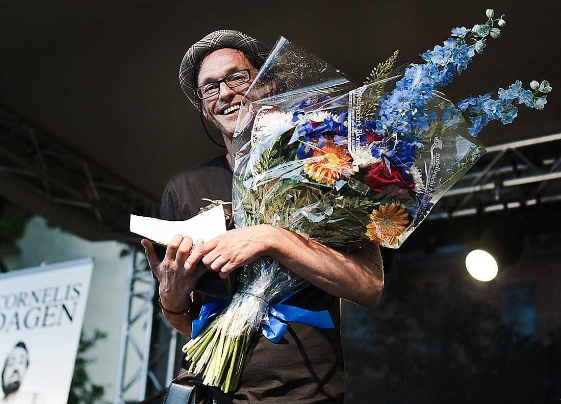 Olle Ljungström tog emot Cornelis Vreeswijk-priset 2011.