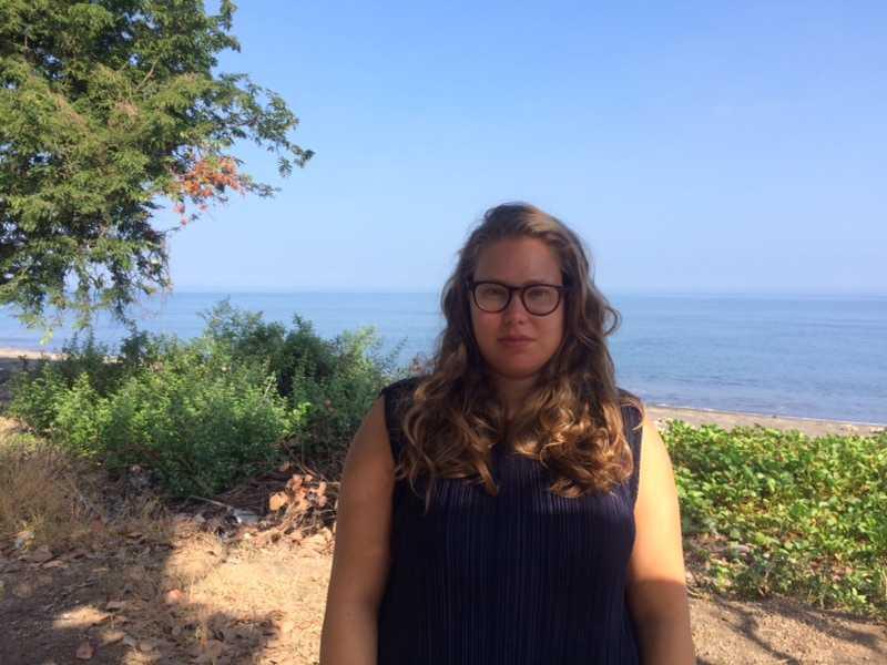 Adrianna Pavlica, 30, vaknade av skalvet.