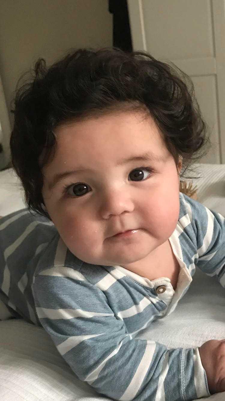 Bebisen Aron, 6 månader, från Stockholm.