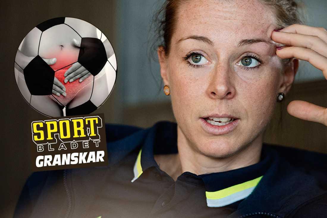 Lotta Schelin är just nu i Göteborg för samling med landslaget.