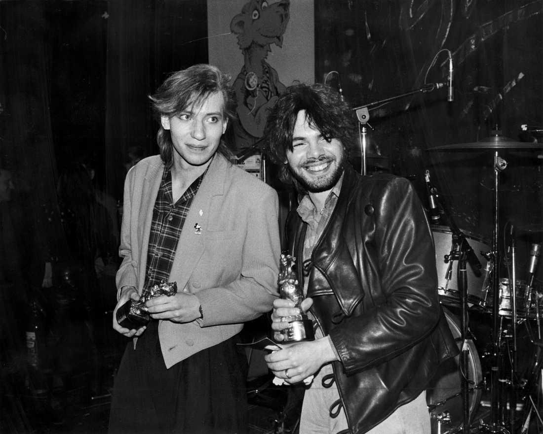 Tyskt finbesök Alphaville med sin rockbjörn 1985.