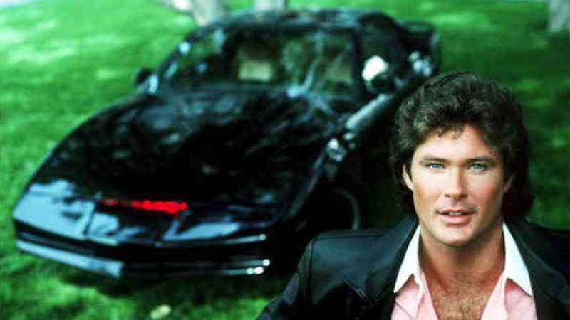 David Hasselhoff blev superstjärna när han körde Kitt, en ombyggd Pontiac Trans Am, i tv-serien Knight Rider.