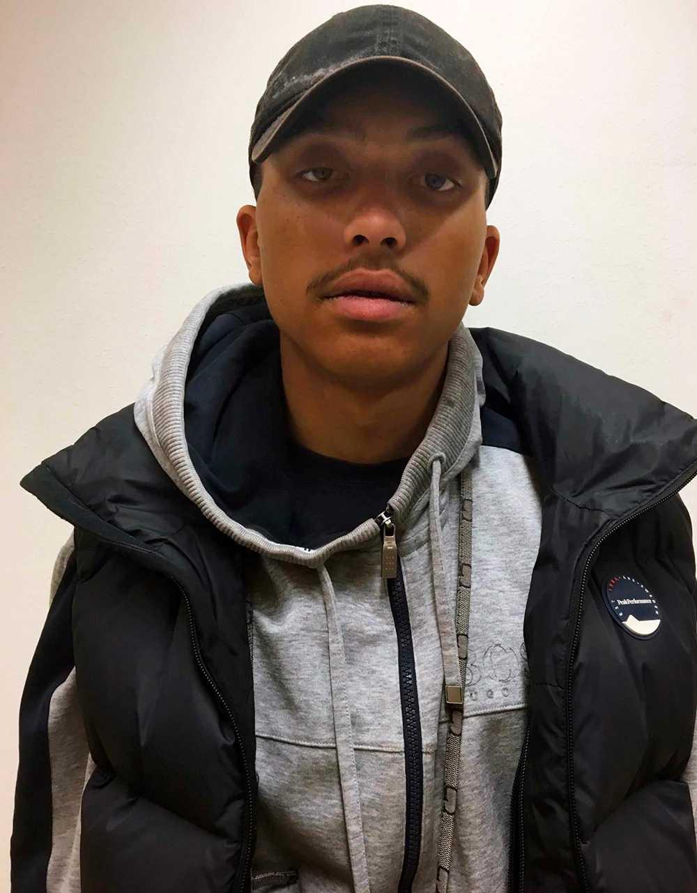 Makaveli Lindén efter att han greps 2017.