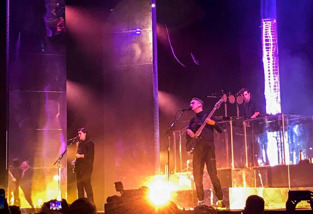 The XX på Hovet i Stockholm 8 februari.