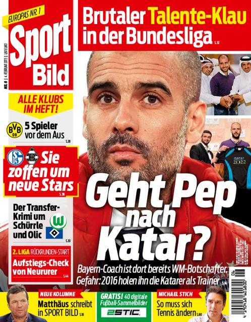 Tyska Bild Zeitung förstasida i dag.