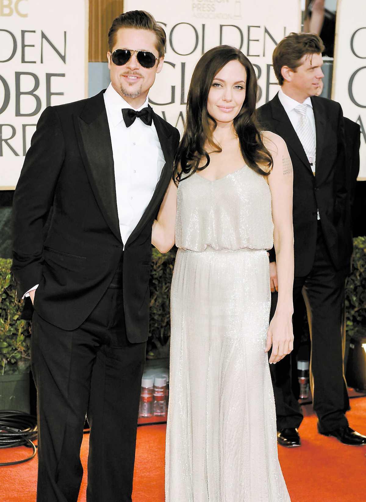 """Brad Pitt och Angelina Jolie – nominerade för """"Benjamin Button"""" och """"Changeling""""."""