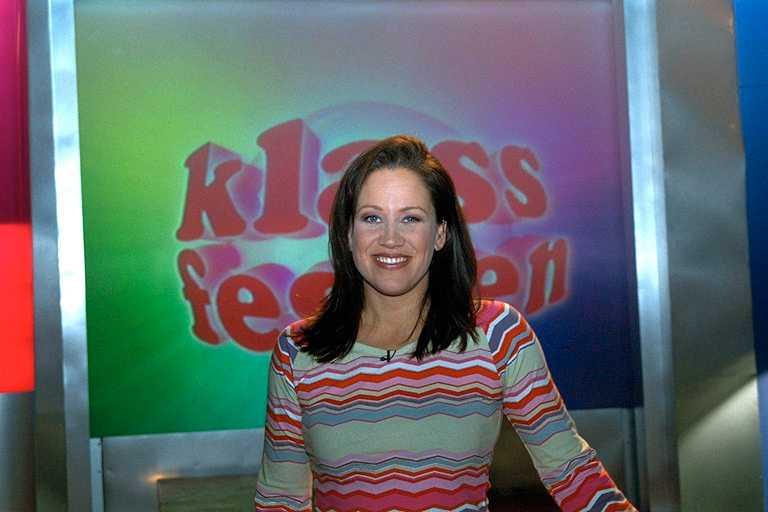 """Renée Nyberg ledde """"Klassfesten"""" även för 18 år sedan."""