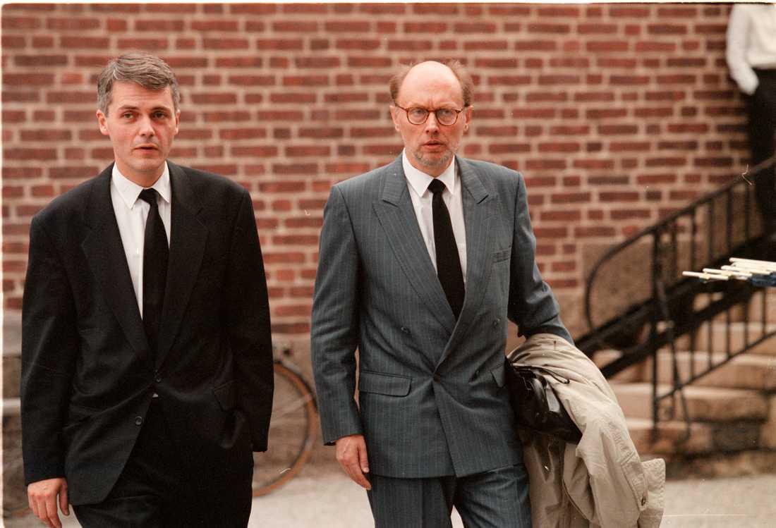 Per Ahlmark på Gösta Bohmans begravning 1997.