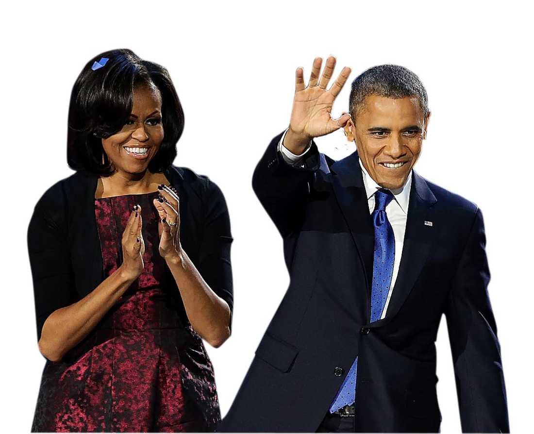 Michelle och Barack vid ett annat tillfälle.