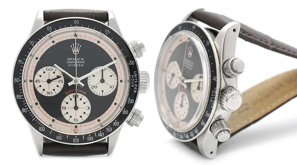 """En Rolex, Cosmograph Oyster, Daytona. Även kallad för en """"Paul Newman-klocka"""", efter kvadraterna på urtavlan. Skådespelaren bar en liknande klocka."""