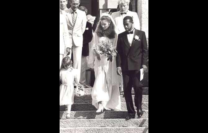 Linda Haglund och Eddie Johnson gifte sig 1984.
