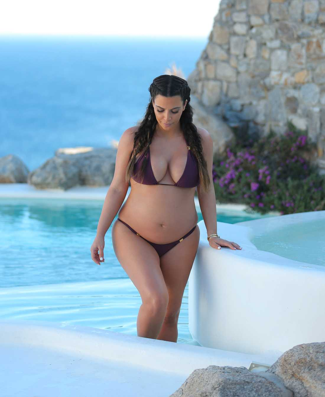 Kim Kardashian På semester i Grekland.