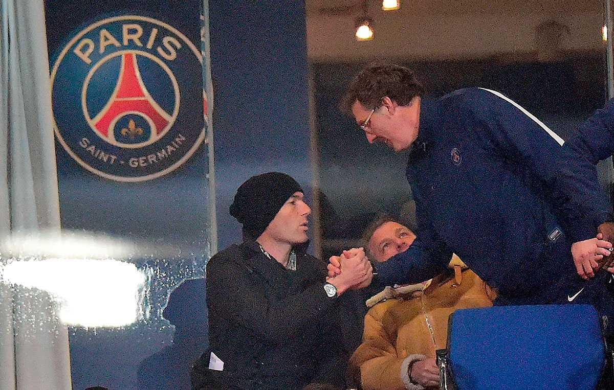 Zidane och Blanc möttes i mars när PSG:s och Real Madrids ungdomslag möttes i Uefa Youth League.