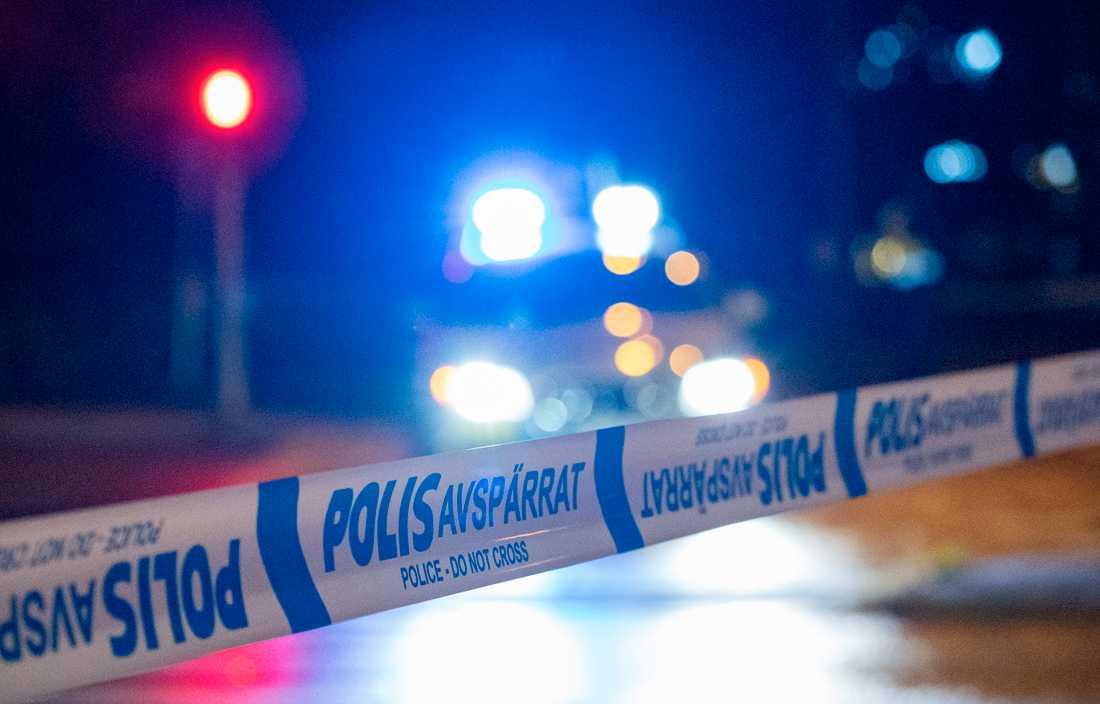Polisen letade efter en misstänkt rånare i Norrköping. Arkivbild.