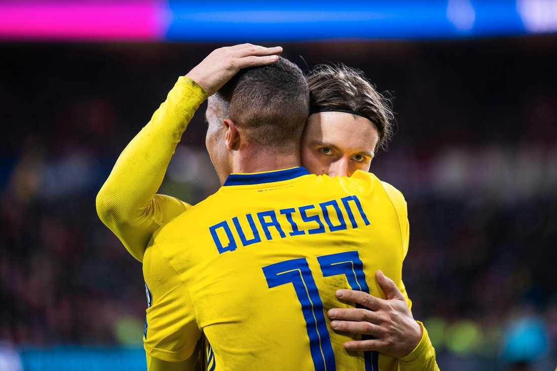 Kristoffer Olsson och Robin Quaison.