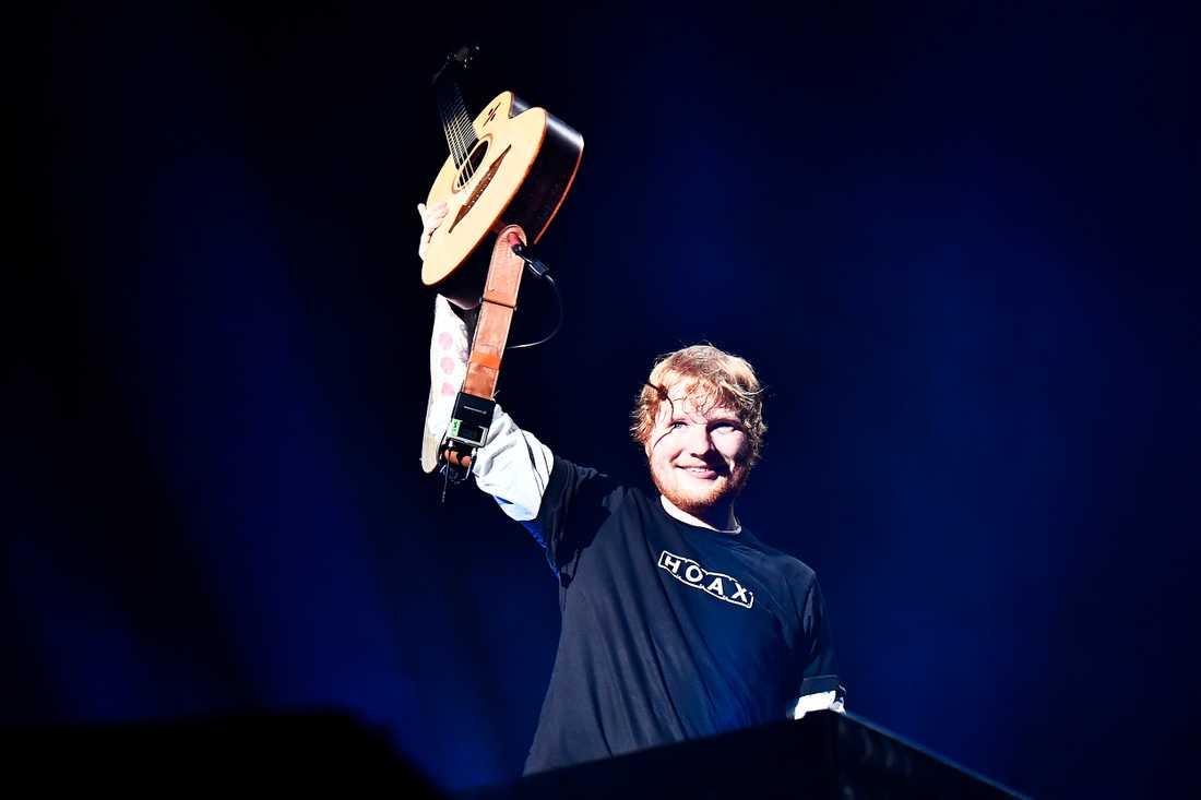 Ed Sheeran på Friends arena och den sista av tre konserter i Sverige den här veckan.