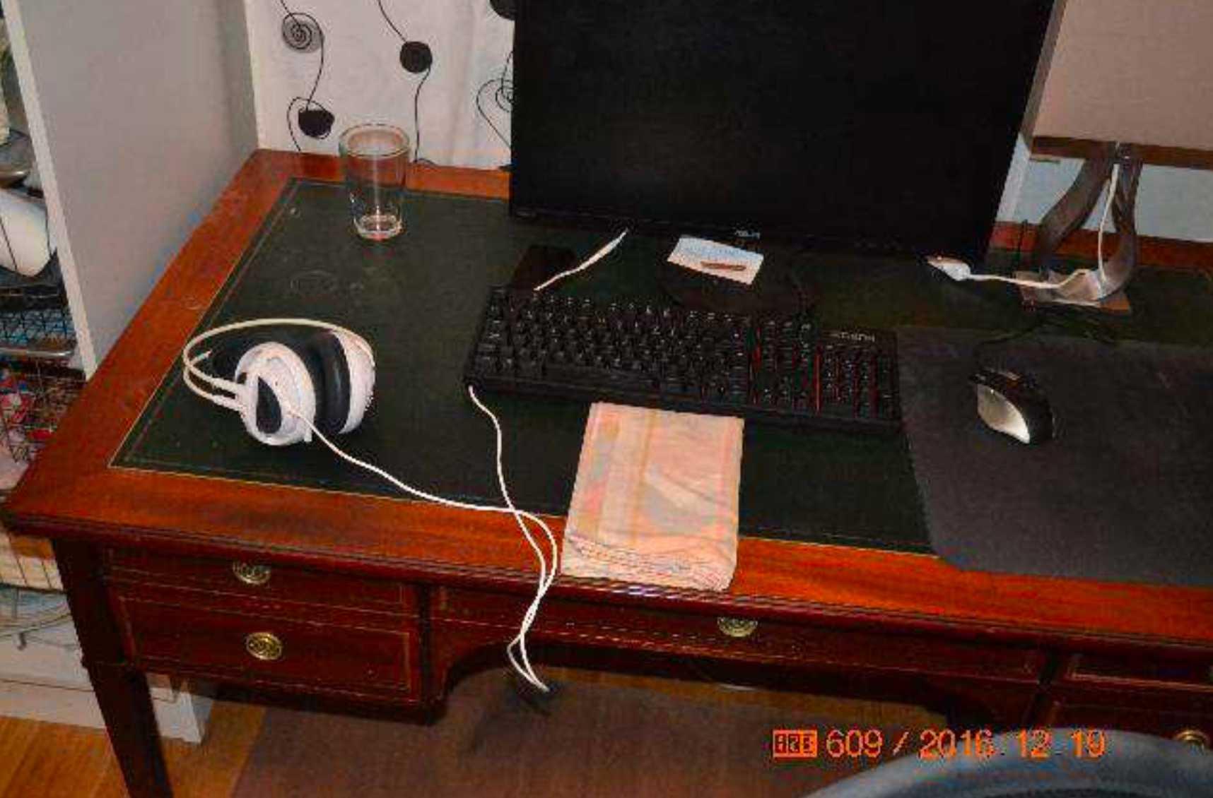 Bild från gärningsmannens rum.