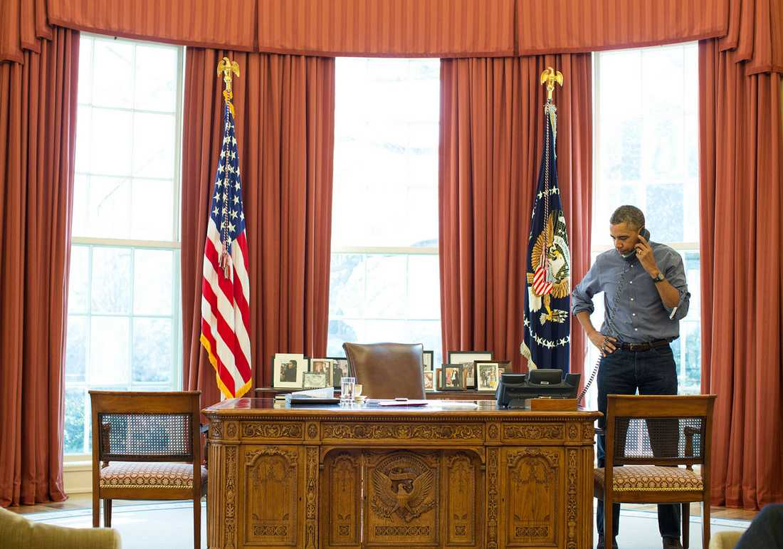 Barack Obama pratade i telefon med Vladimir Putin i 90 minuter om Krimkrisen.