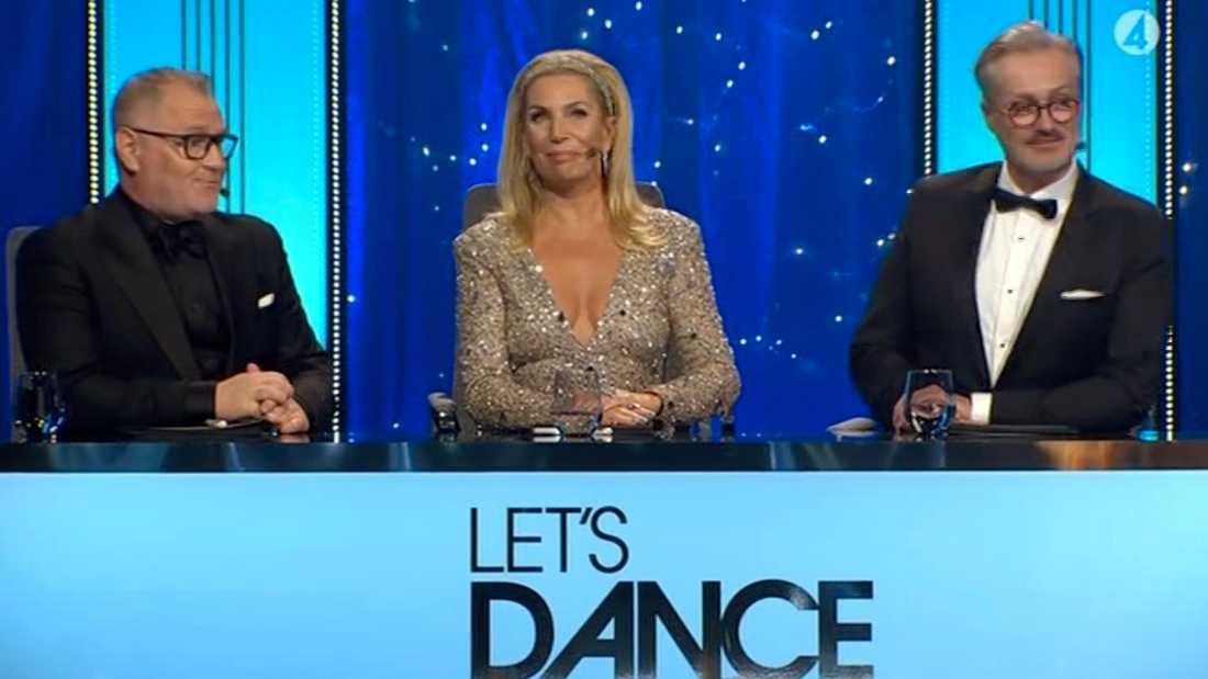 """""""Let's dance""""-juryn, från vänster Dermot Clemenger, Ann Wilson och Tony Irving."""