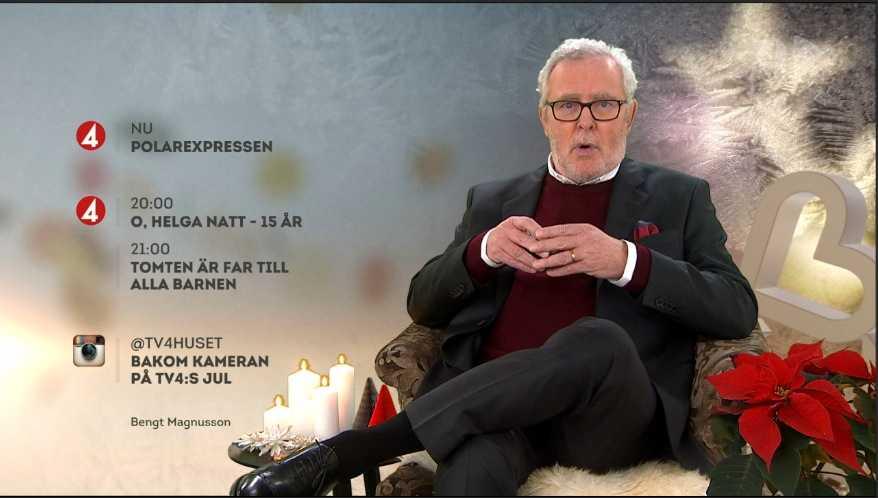 Bengt Magnusson var också förra årets julvärd i TV4.
