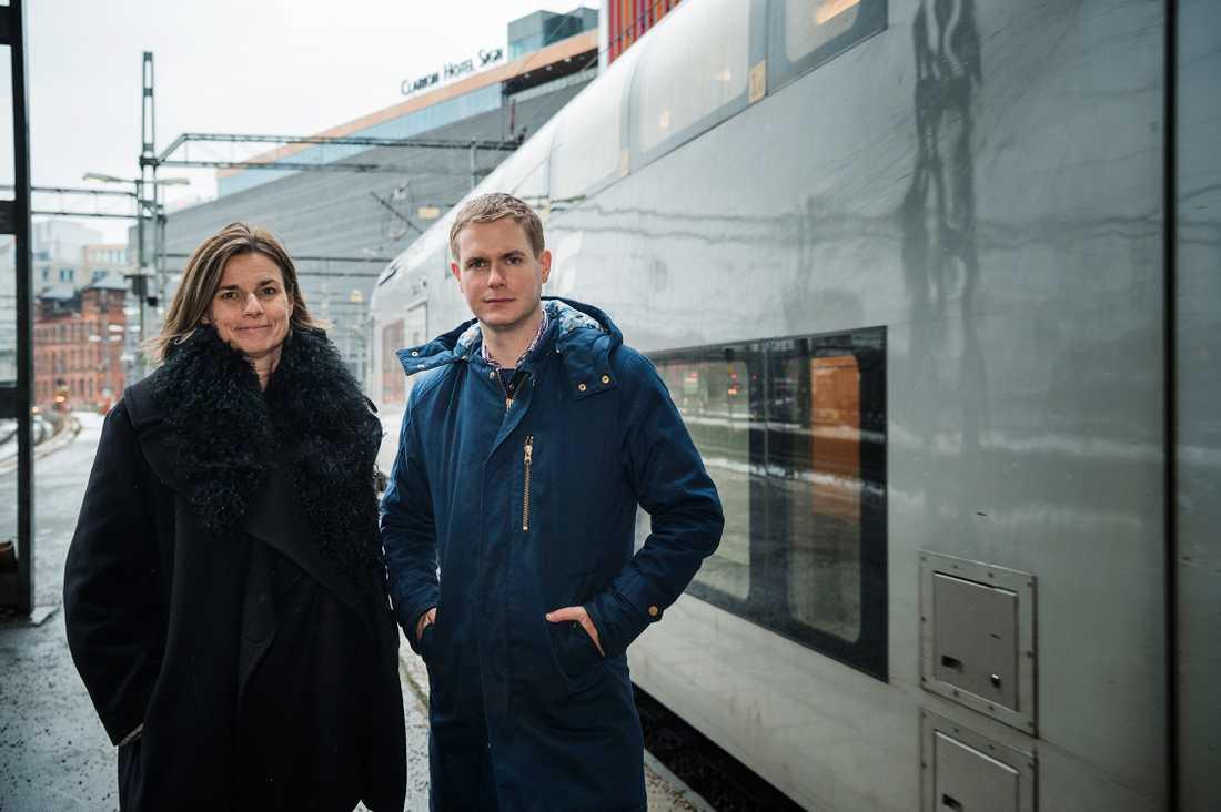 MP-ledarna Isabella Lövin och Gustaf Fridolin.