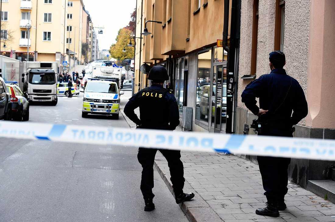 Stort pådrag på Södermalm.
