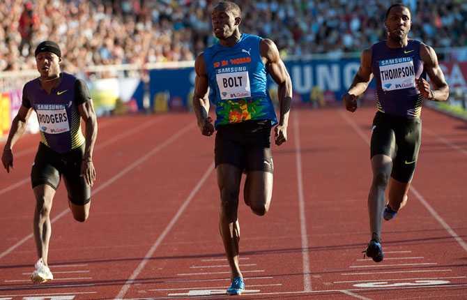 Usain Bolt gick enkelt vidare till final, utan att förta sig.
