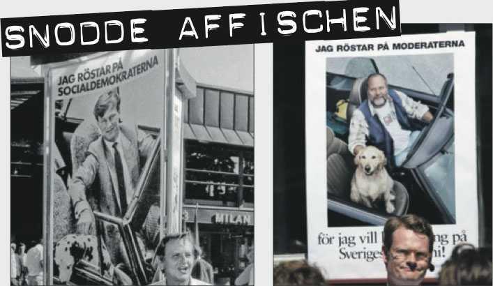 SAMMA LIKA  Moderaternas kopia av Socialdemokraternas valaffisch från 1985 väckte uppmärksamhet i valrörelsen 2010.
