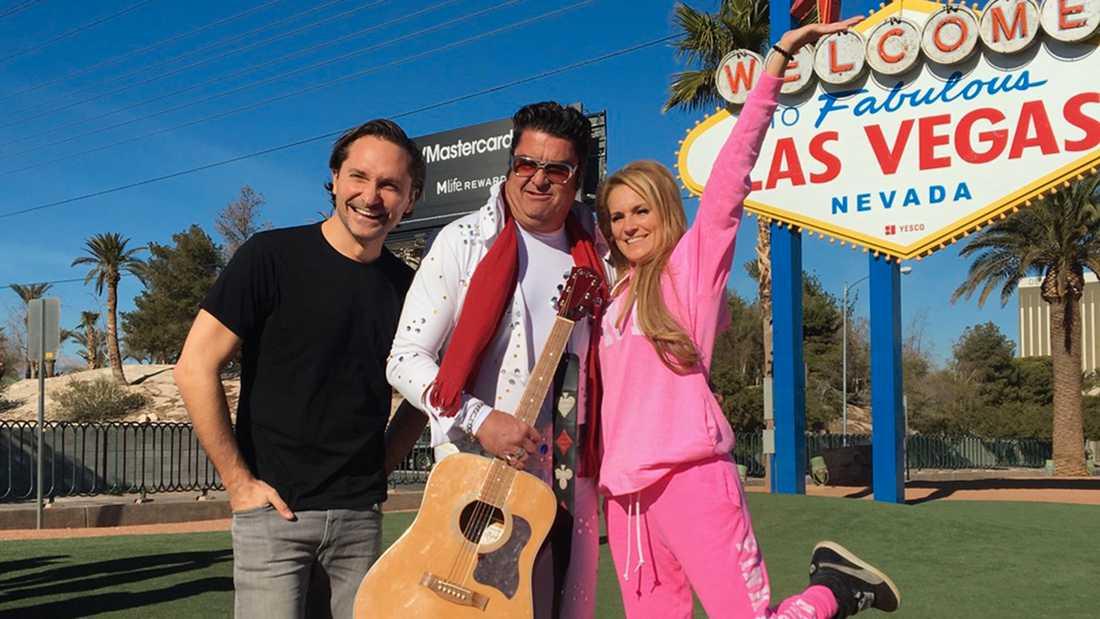 Roger Nordin och Laila Bagge i Las Vegas.