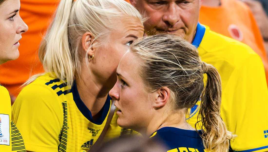 Pernille Harder och Magdalena Eriksson