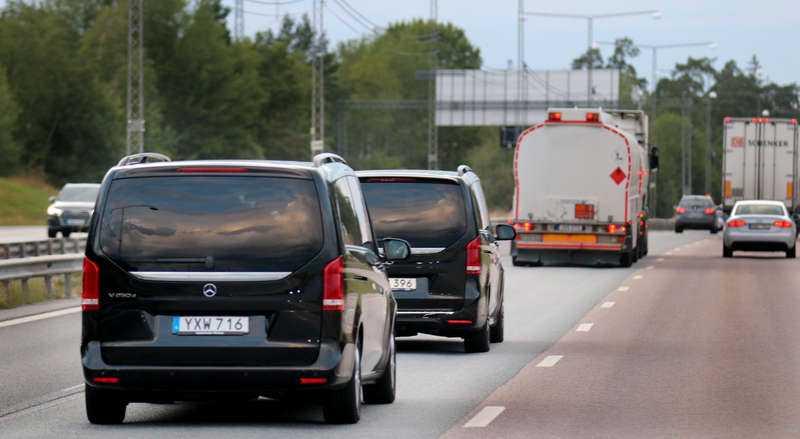 ASAP Rocky på väg till Arlanda.