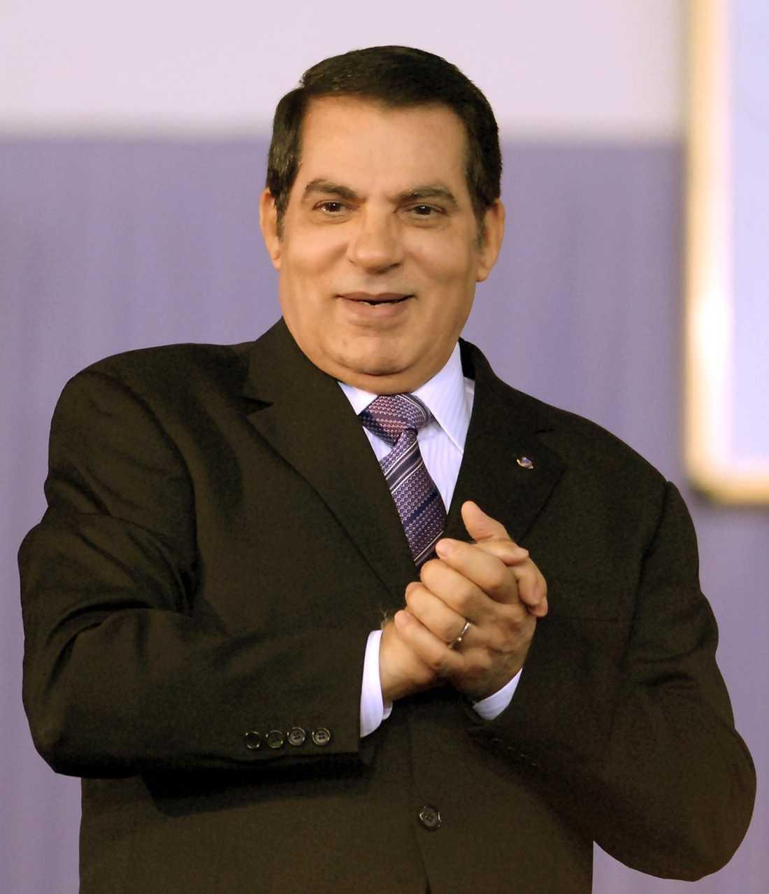 HAN JAGAS Ben Ali uppges befinna sig i Saudiarabien.