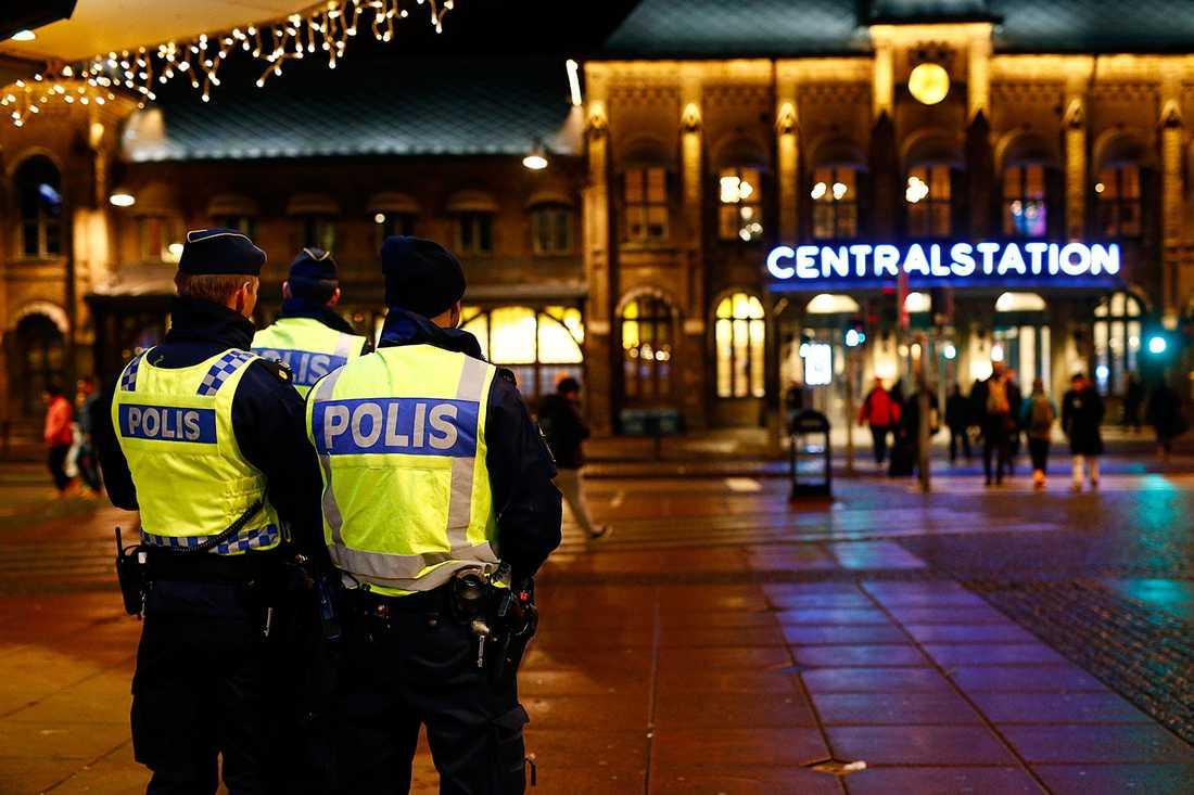 Polis i Göteborg.