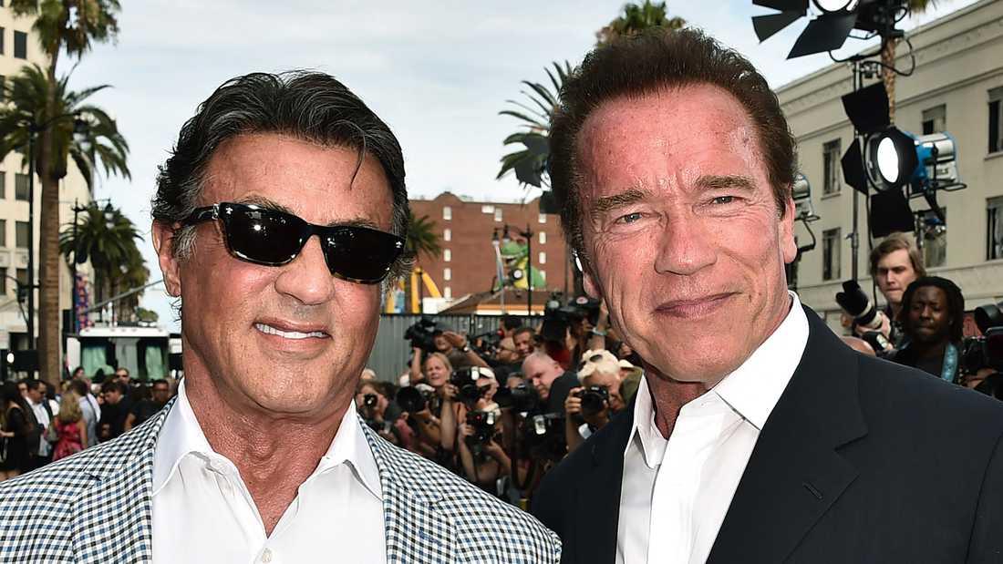 Stallone och Schwarzenegger.