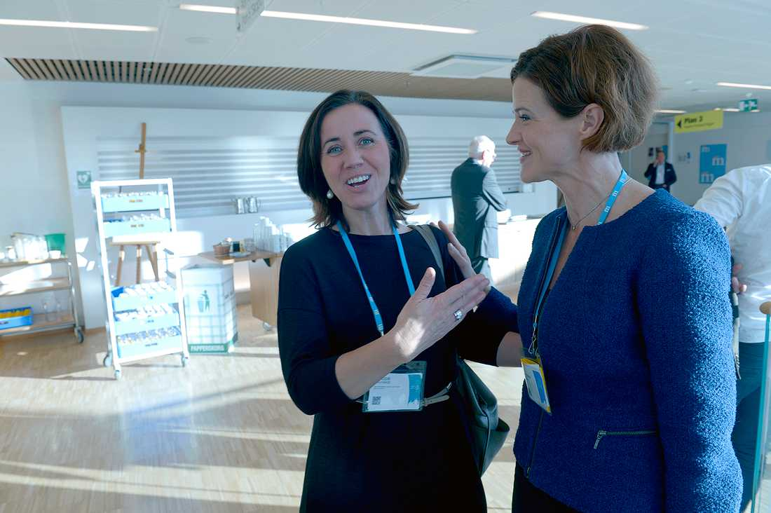 Gamla partivänner möts. Filippa Reinfeldt, 48, var tidigare sjukvårdslandstingsråd (M) i Stockholms läns landsting. I dag arbetar hon på vårdbolaget Aleris. På stämman träffade hon M-ledaren Anna Kinberg Batra, 45.