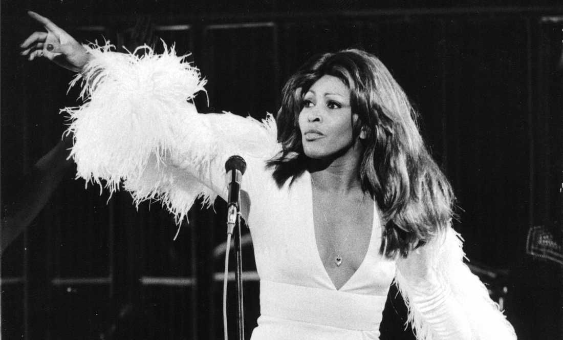 Tina Turner på Konserthuset i Stockholm 1974.