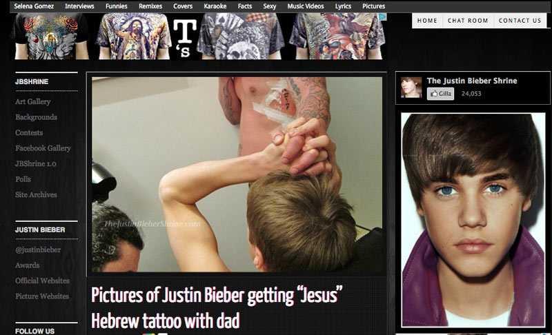 Bieber och hans pappa tatuerade sig likadant - samtidigt.