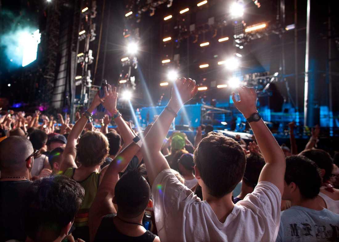 Festivalbesökare. Bilden är från ett annat tillfälle. Arkivbild.