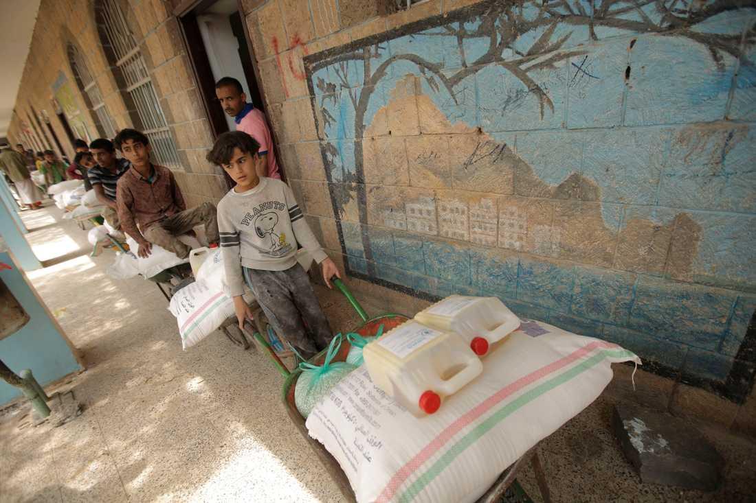 24 miljoner jemeniter är beroende av internationellt stöd. Arkivbild.