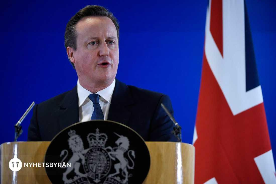 David Cameron höll presskonferens efter överenskommelsen.