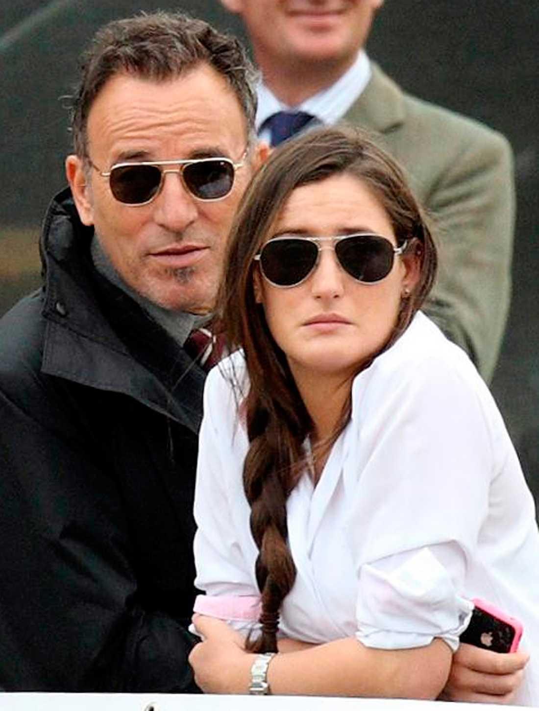 Bruce Springsteen med dottern Jessica på The Royal Windsor Horse Show i maj 2011.
