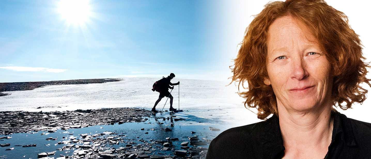 Man på fjälltur i norska Trøndelag. Ulrika Stahre läser böcker om att vandra.