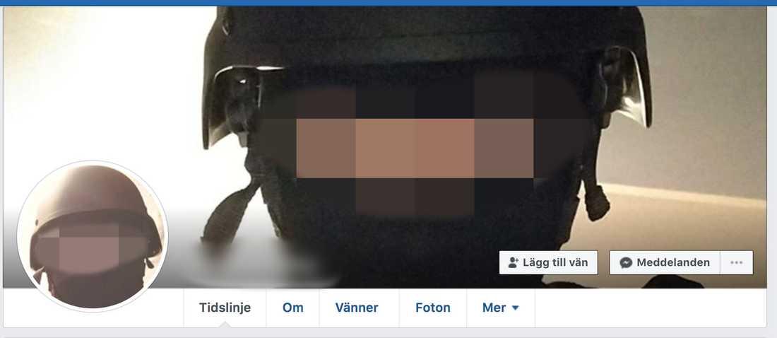 """På Facebook bar han hjälm och mask - och kallade sig """"skjutare på Hässleholms Tekniska skola."""""""