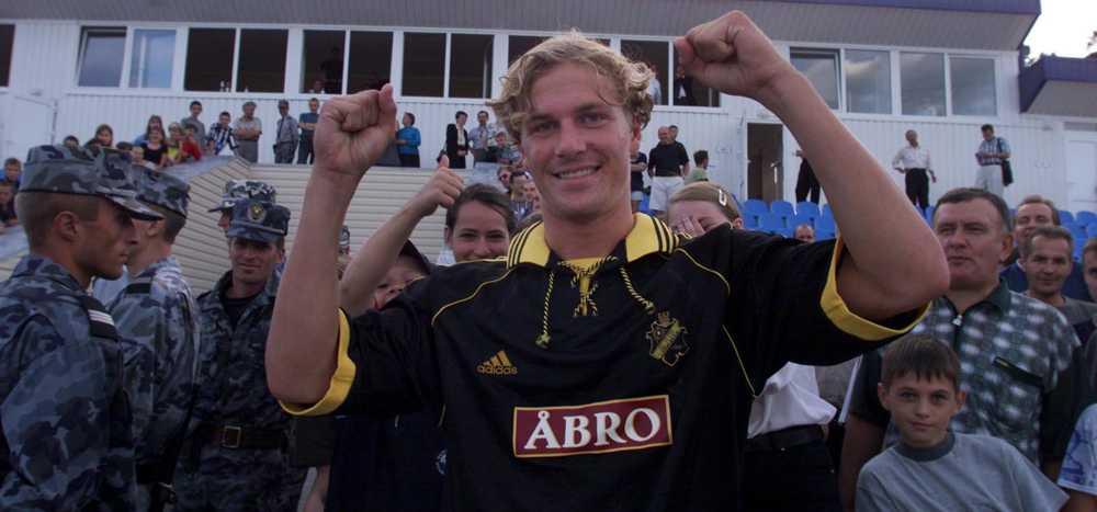 Daniel Tjernström jublar efter AIK:s 1-0-seger CL-kvalet mot Djnepr.