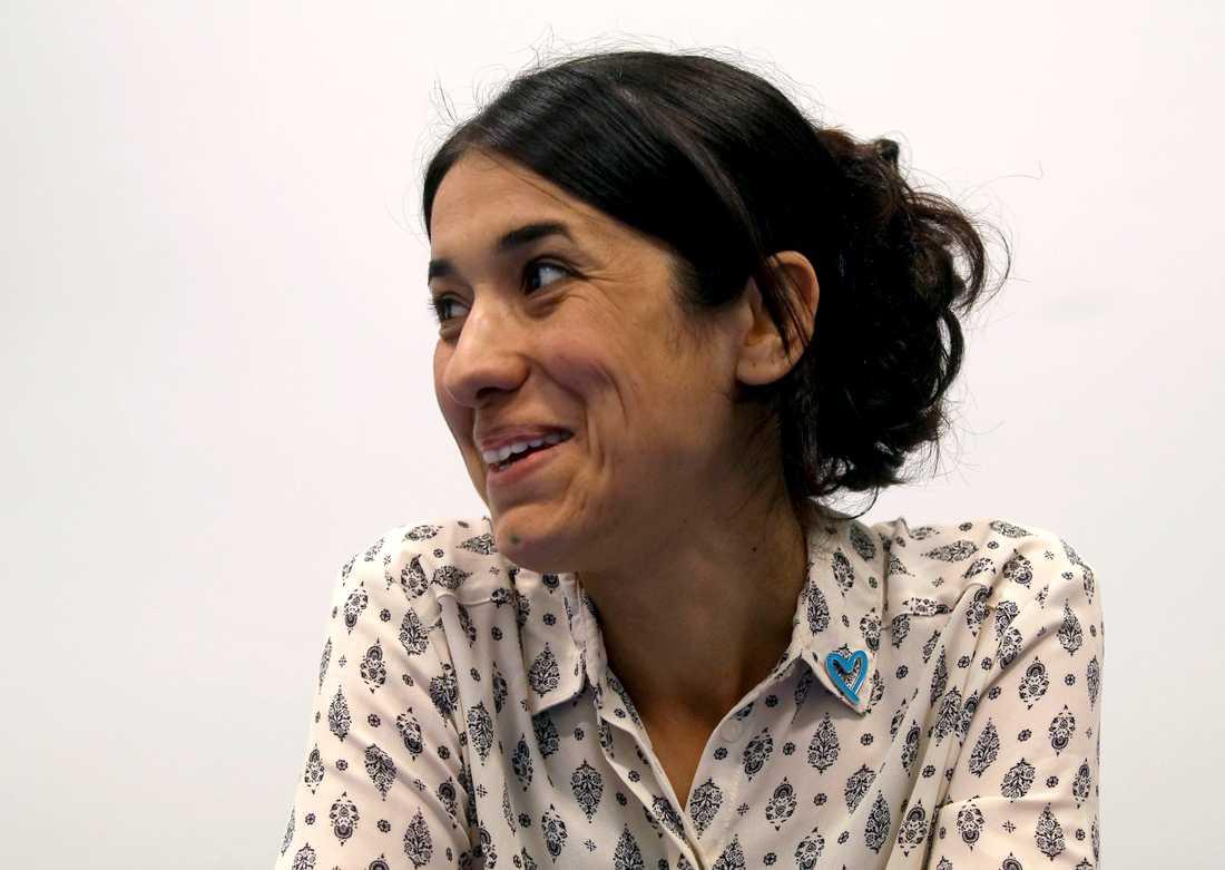 Nadia Murad är en av två fredspristagare. Arkivbild.
