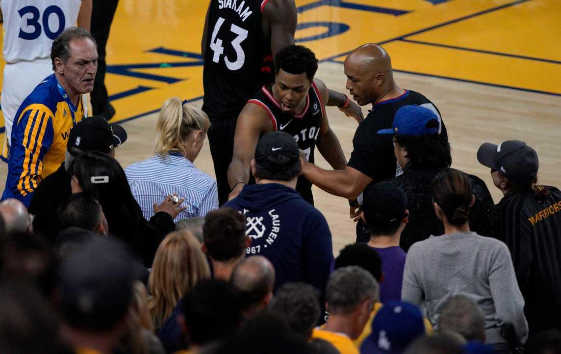 Kyle Lowry var inte glad efter Golden State-delägaren Mark Stevens tilltag i NBA-finalens tredje match