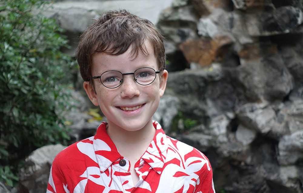 Anatole är åtta år och har drabbats av en tumör i hjärnan.