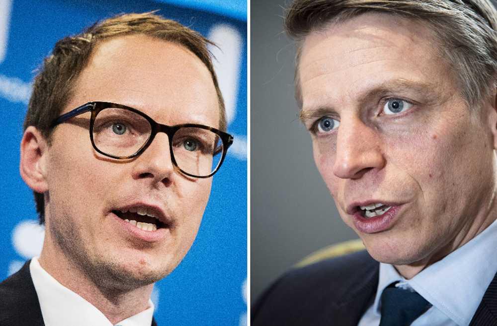 Mats Persson (L) och Per Bolund (MP).