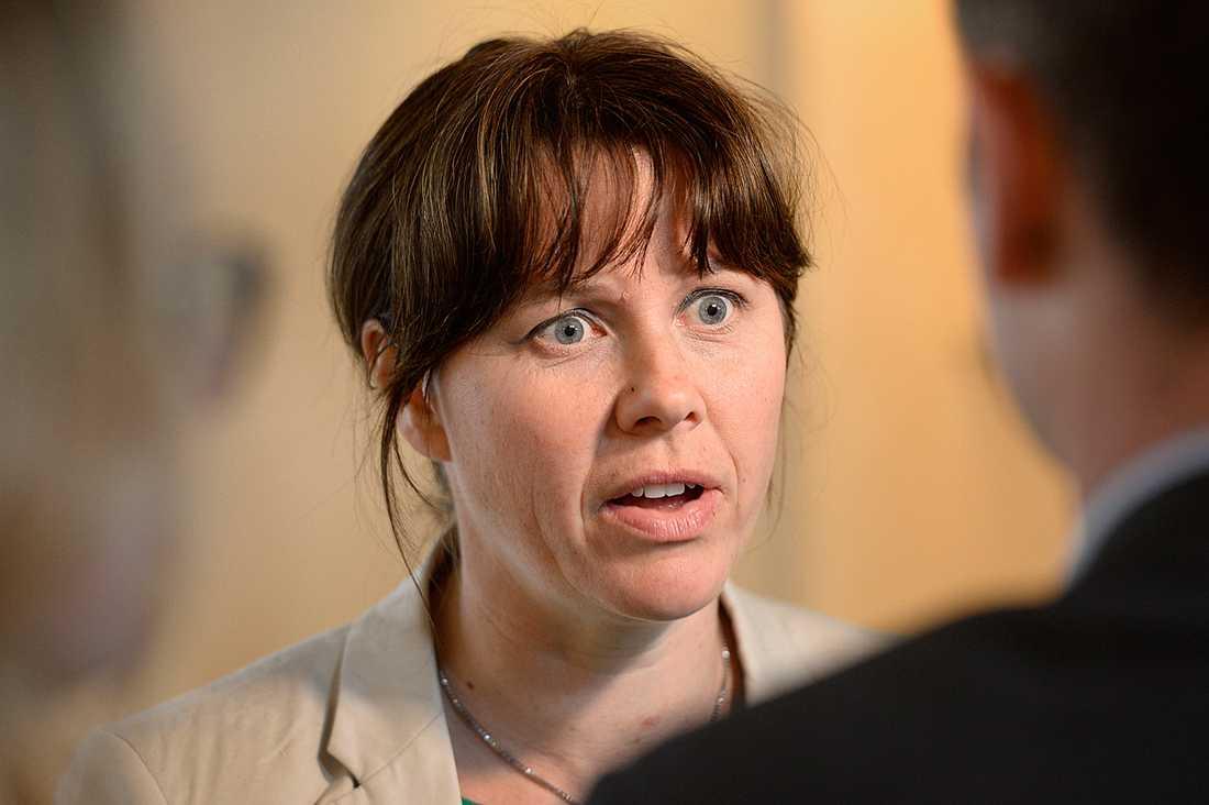 Åsa Romson, språkrör för MP och klimat- och miljöminister.