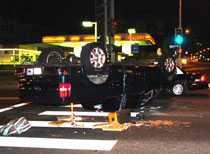 Polisen tog Shia Labeouf för rattfylleri när biloyckan skedde, men man konstaterade sedan att orsaken var en annan bilist som kört mor rött ljus.
